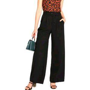 A NEW DAY black high waist wide leg belted trouser